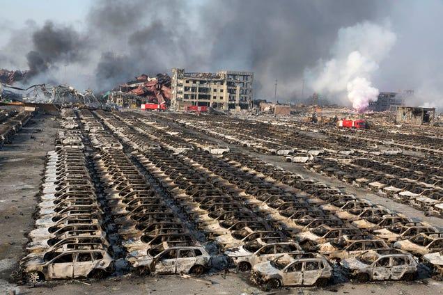 La explosión de Tianjin fue tan potente que pudo apreciarse desde el espacio