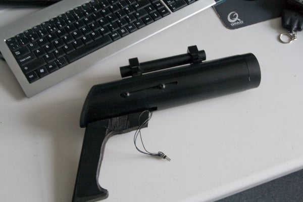 Ultra-Powerful Sniper TV-B-Gone Rifle with LED Aim