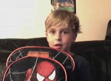 We Did It! Adorable Kid Reunited With Stolen Superhero Backpack and PSP!