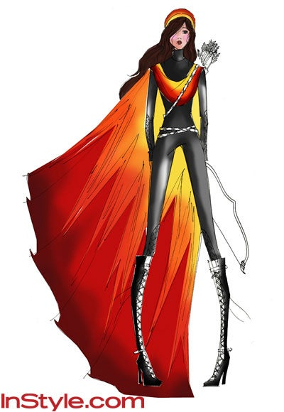 Fashion designers sketch their own versions of Katniss' fiery couture