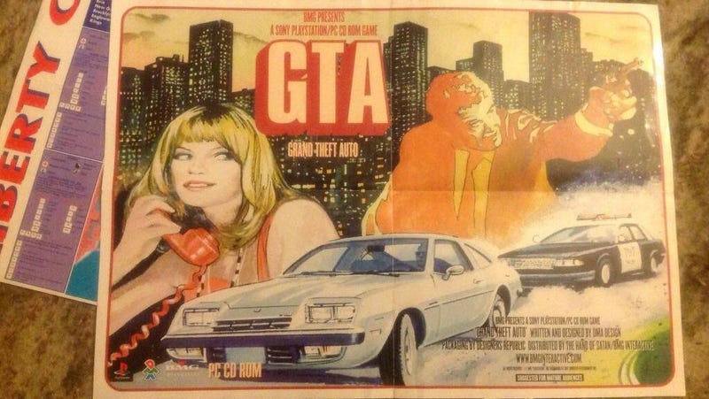 The Poster for the First GTA Doesn't Look Like Grand Theft Auto