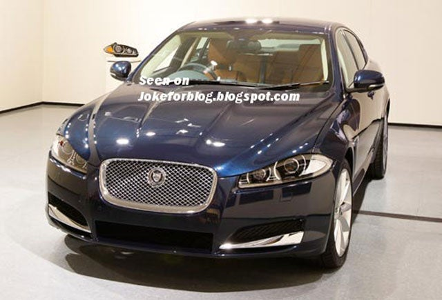 This is the 2012 Jaguar XF's new snout