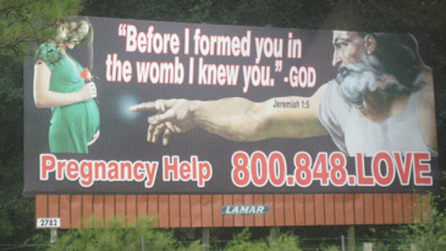 A Gallery of Weird Anti-Abortion Billboards