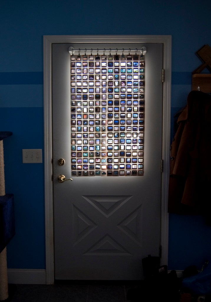 Old Film Slides Give Your Windows a Stained Glass Effect