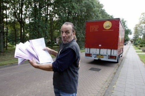 Dutch Trucker Receives 45 Speeding Tickets While Parked