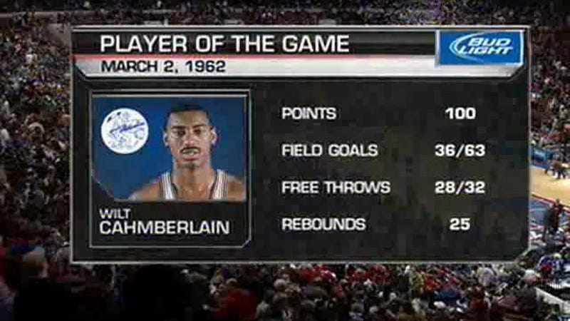 "Tonight's 76ers Broadcast Honored The Stilt By Naming Wilt ""Cahmberlain"" Player Of The Game"