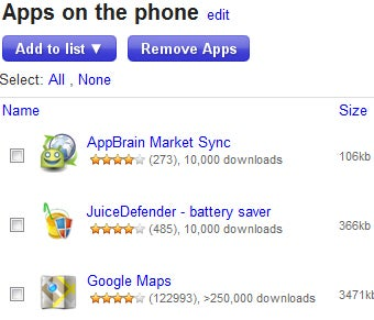 AppBrain Manages Your Android Apps on the Web