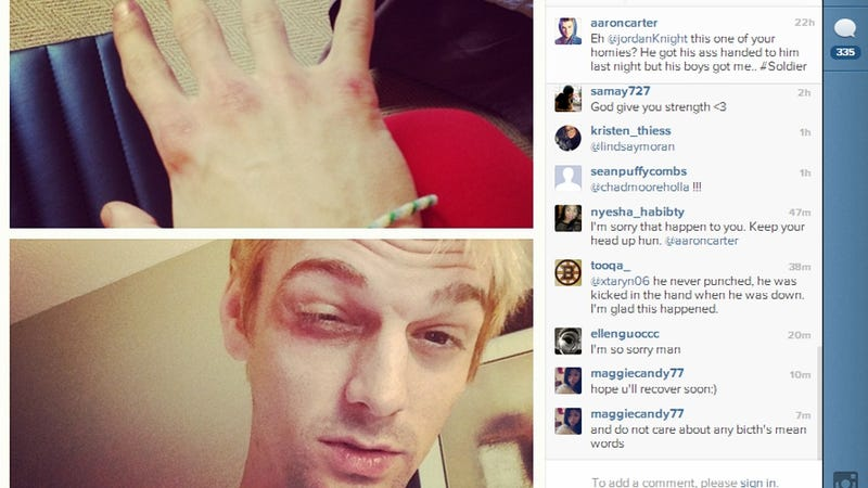 Aaron Carter Got Beat Up in Boston for Being on 'New Kids' Turf