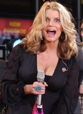 Jessica Simpson Discovers New Way to Expose Oneself On Live Television