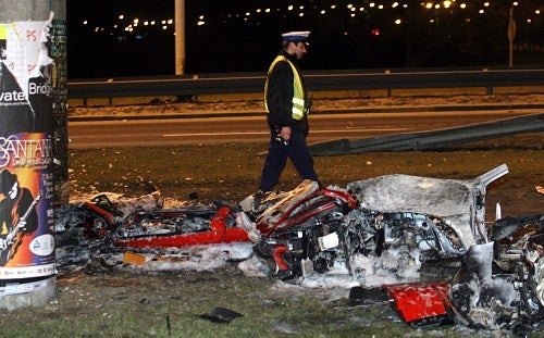 Ferrari 360 Modena Obliterated In Polish Accident