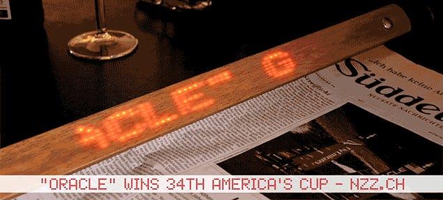 LED Holders Upgrade Newspapers With the Latest Headlines