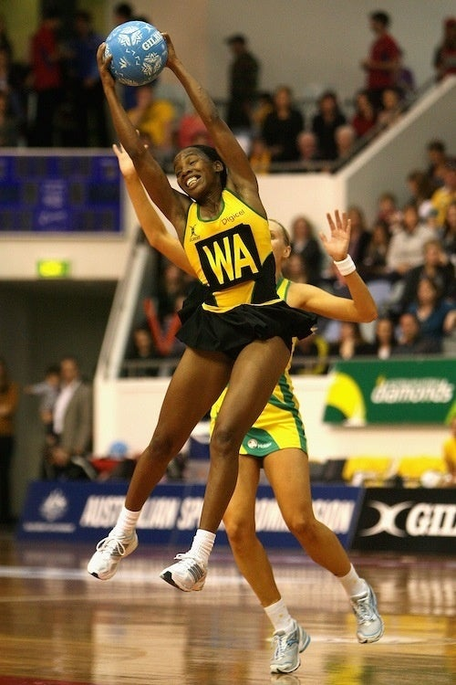 Netball Player's Impressive Stretch Makes The Catch