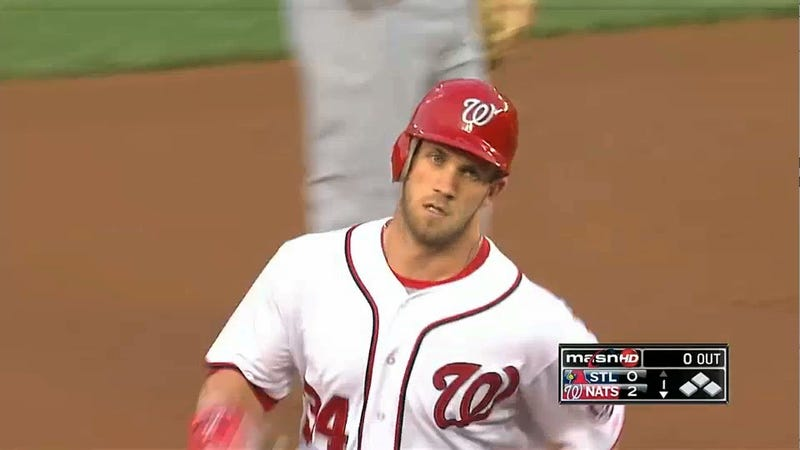 Bryce Harper Sprints Around The Bases For This Season's Fastest Home Run Trot
