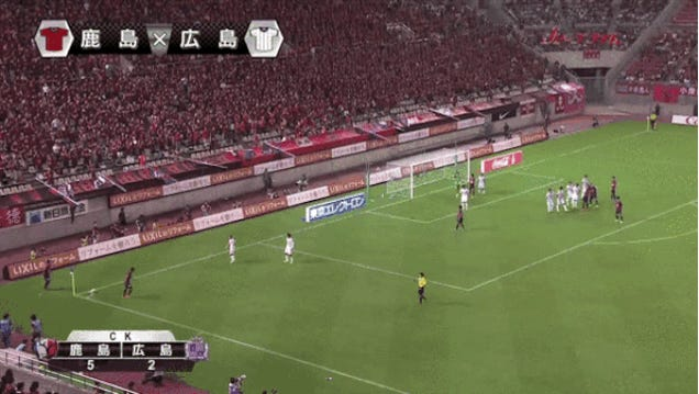Daigo Nishi Blasts Incredible Volley Off Corner Kick
