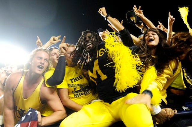 Denard Robinson Took Just 21 Seconds To Lead Michigan's 80-Yard Game-Winning Drive Over Notre Dame