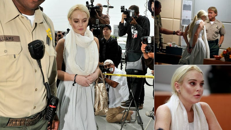 Lindsay Lohan Handcuffed & Taken Into Custody