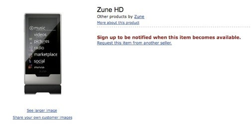 Zune HD Amazon Listing Hints At Games, Apps