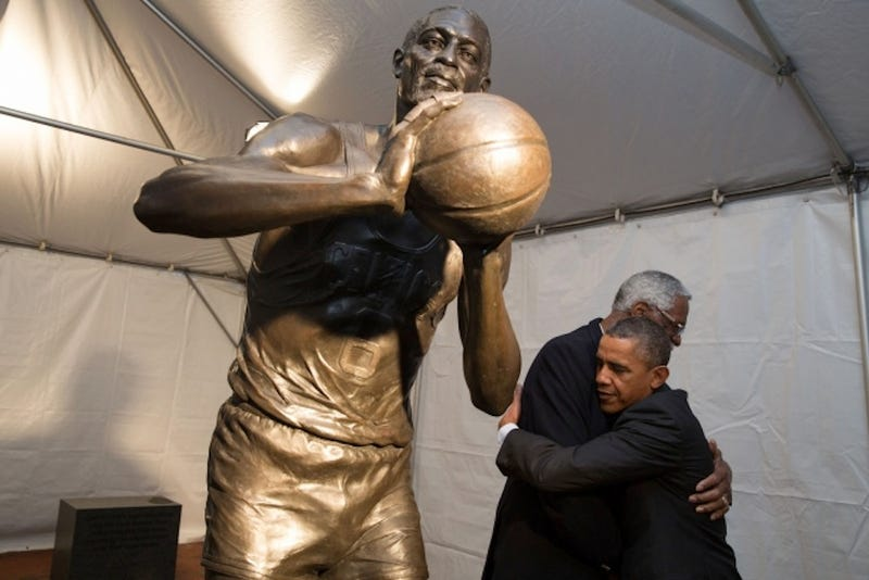 The President And Bill Russell Combine For One Really Great Hug