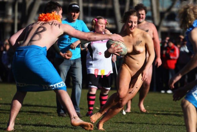 There Was A Nude Rugby Match With A Blind Referee In New Zealand Yesterday (NSFW)