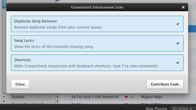 Grooveshark Enhancement Suite Removes Duplicates, Adds Keyboard Shortcuts to Grooveshark