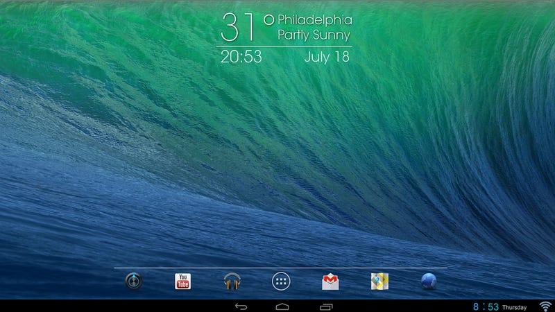 The Android Mavericks Desktop