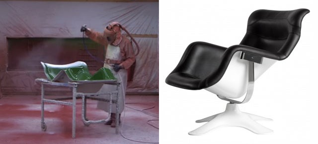Watch How This Futuristic Fiberglass Chair Is Made By Hand