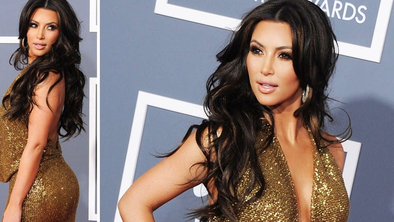 Kim Kardashian's Grammy Emergency: 'My Whole Butt Wouldn't Fit In My Dress'