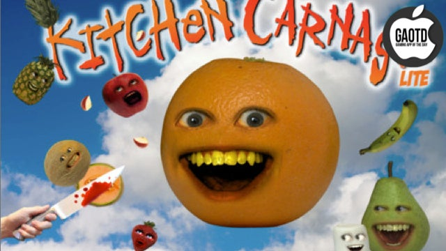 Hey iPhone App! You're an Annoying Orange Game