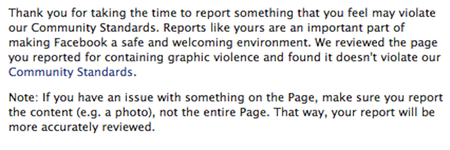 Facebook Doesn't Consider Page Honoring Rapists 'Violent'