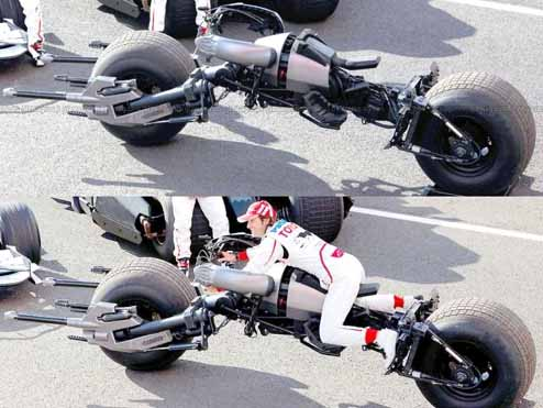 Batpod Makes Its Way to the British Formula One Grand Prix