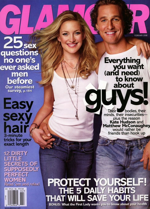 New Glamour: All About Guys! (Matthew McConaughey Thought They Said High)
