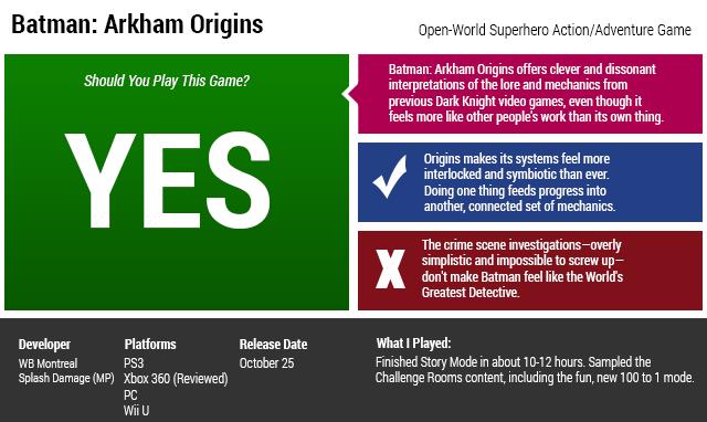 Batman: Arkham Origins: The Kotaku Review