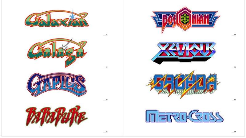 Namco's Badass Retro Arcade Game Logos
