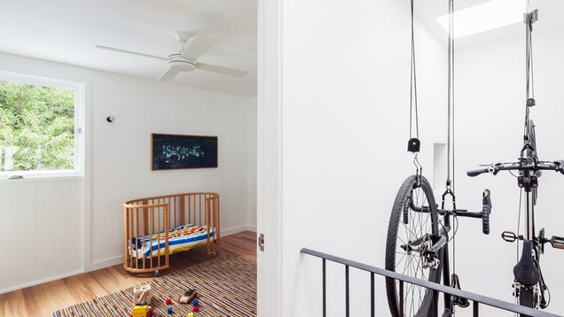A Bicycle Pulley System Is A Surprisingly Practical Storage Solution