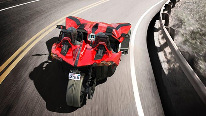 The Polaris Slingshot Is Your Amazing New Three-Wheeled Track Machine