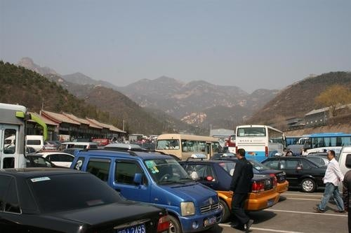 Great Wall Parking At Badaling