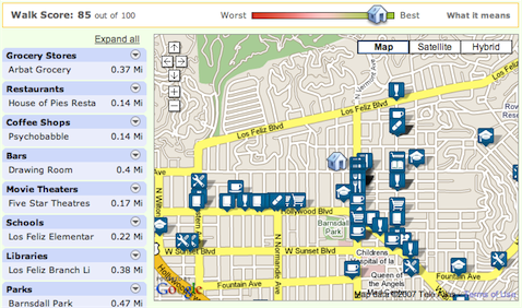 Determine the walkability of a neighborhood with Walk Score