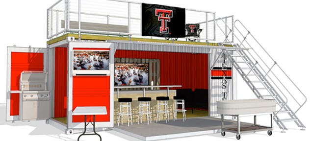 Shipping Container Tailgate Party Is The Pinnacle Of Pop