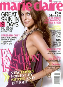 September Marie Claire : Eva Mendes Has A Fu—kin' Girlcrush