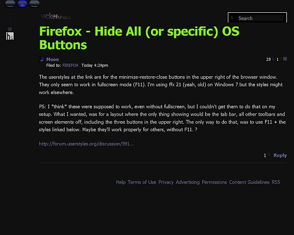 Firefox - Hide All (or specific) OS Buttons