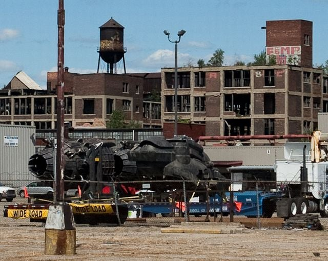 Transformers 3 Filming At Abandoned Detroit Auto Plant