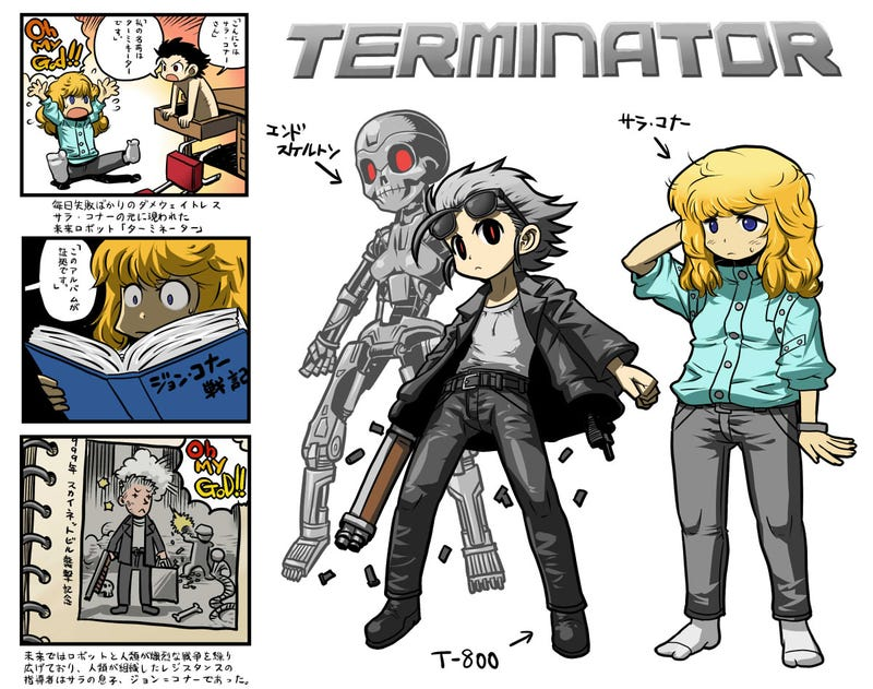Action and horror movie characters get cutesy manga makeovers