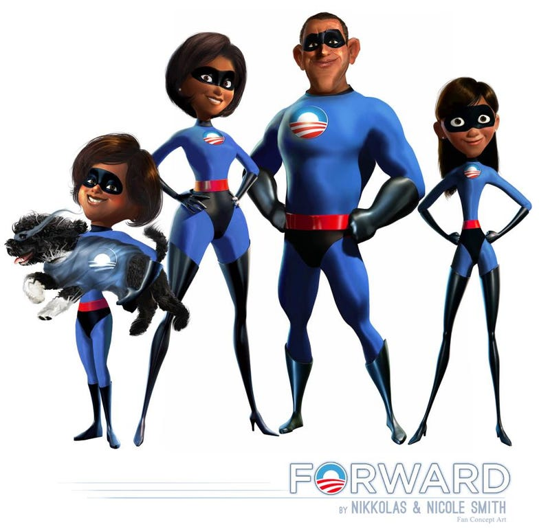 The Obama family reimagined as The Incredibles