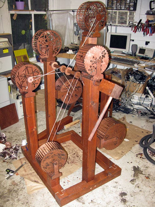 Wooden Squirrel Cage Machine Obsesses Over Your Thoughts For You