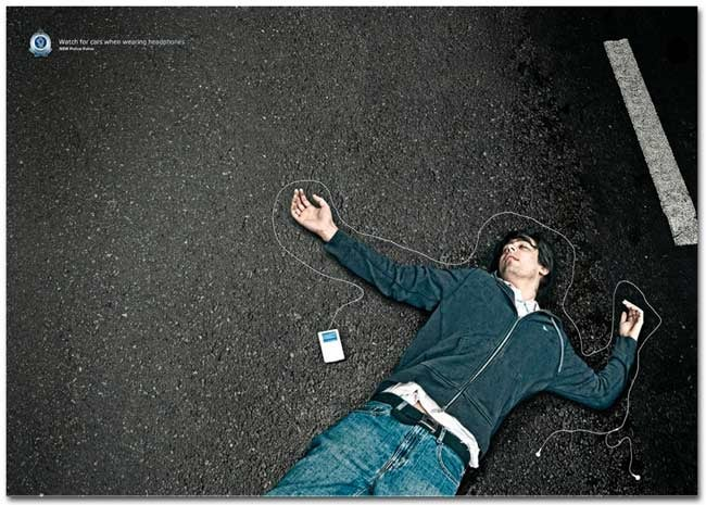 iPod May Shuffle You From Rolling Stone to Roadkill, Australian Ad Says