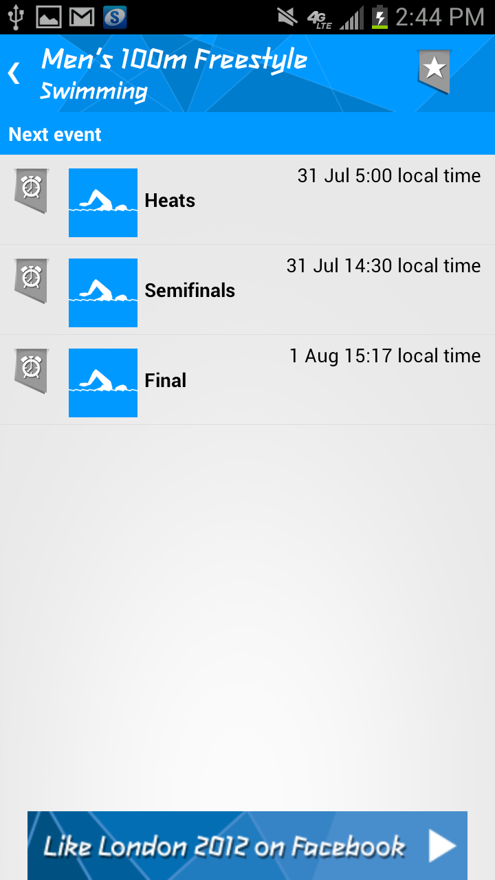 London 2012 Results App Gallery