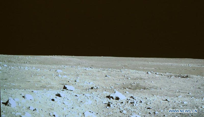 Imagining the Earth through the eyes of China's Yutu rover