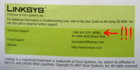 Linksys Seizes Misprinted Hotline Number, Puts An End To Sexy Party
