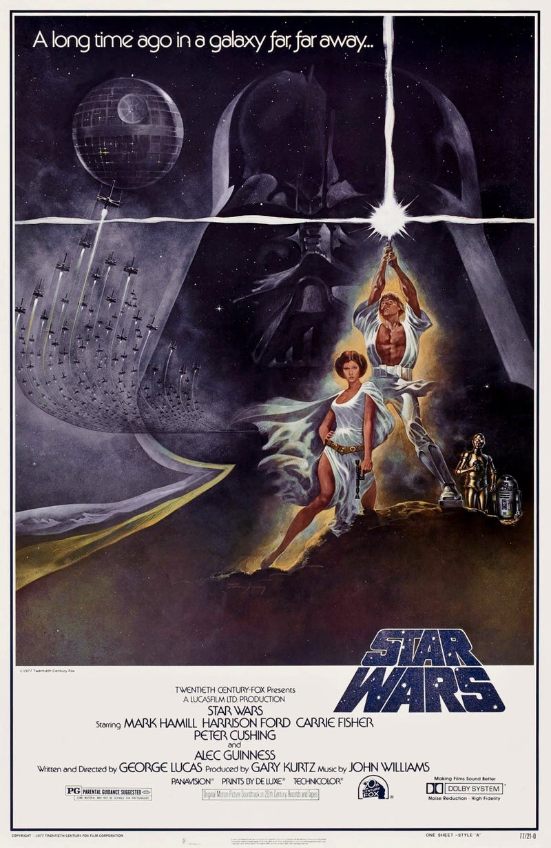 watch star wars evolve through its spectacular history of posters. Black Bedroom Furniture Sets. Home Design Ideas