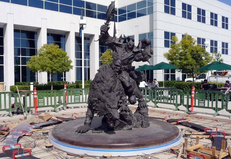 Ogle Blizzard HQ's Epically Mounted Orc